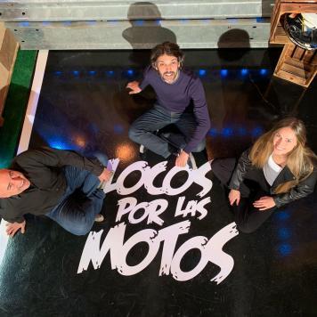 """""""Locos por las motos"""", Sergio Romero, Keko Ochoa, Beatriz Eguiraun"""