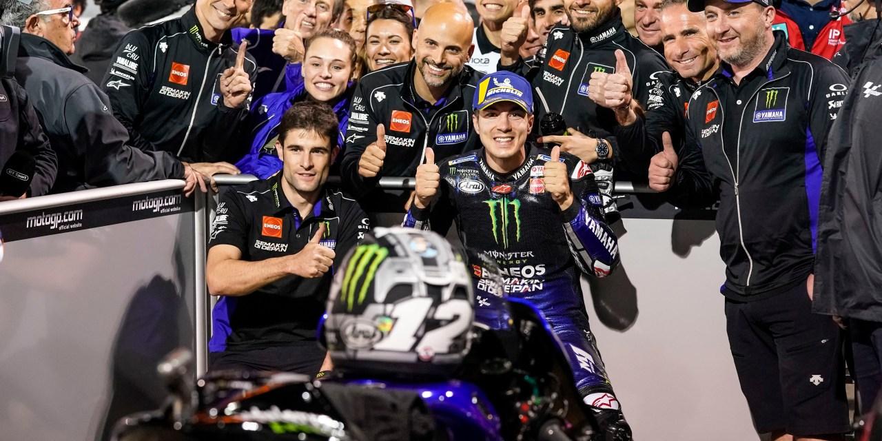 Maverick Viñales y el Monster Energy Yamaha MotoGP se estrenan con la pole de Qatar