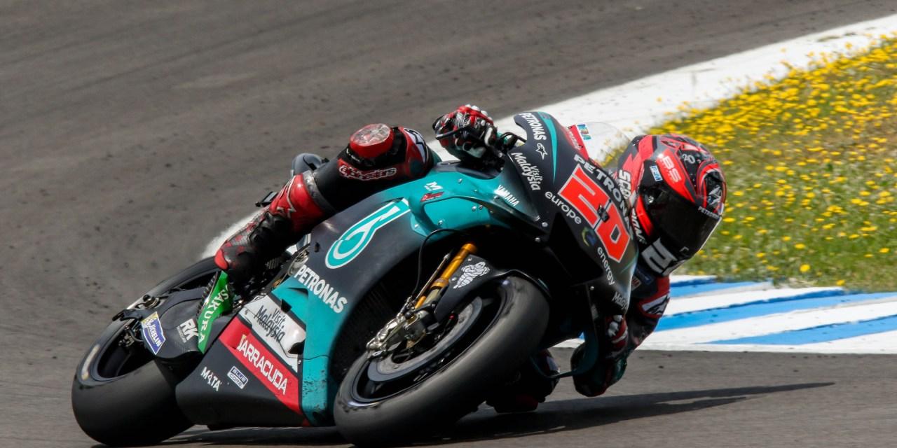 Fabio Quartararo (Yamaha) destroza hoy en el test post Gran Premio el tiempo que le valió la pole en MotoGP