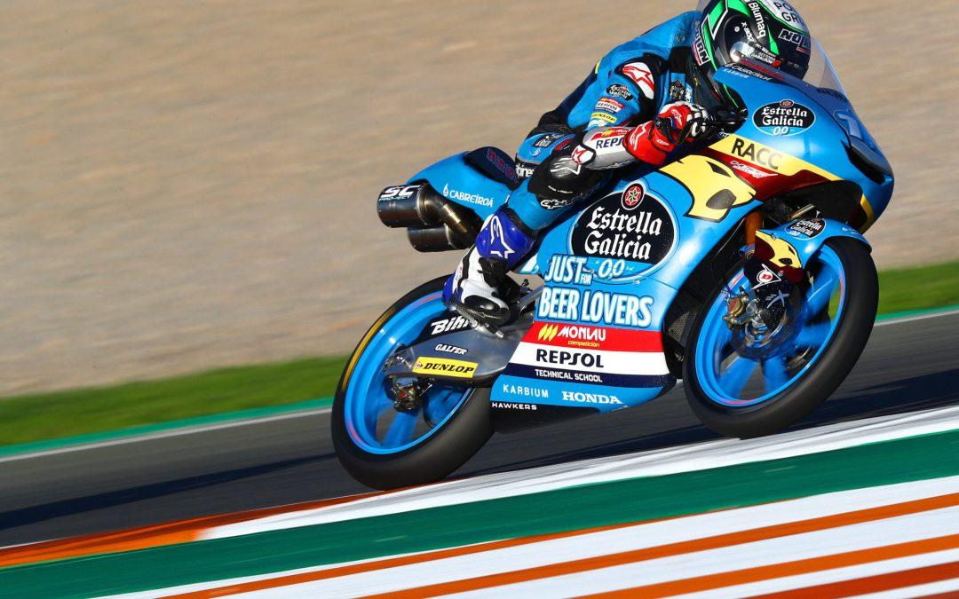 Sergio García Dols vence en Valencia la última carrera del año de Moto3