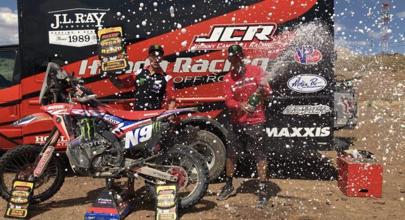 Ricky Brabec vuela en el desierto de Nevada para adjudicarse su tercer Vegas To Reno