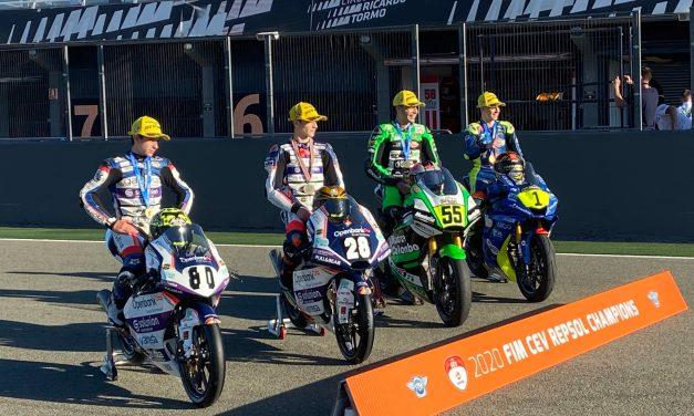 Izan Guevara, campeón del mundo junior de Moto3 en el Circuit Ricardo Tormo