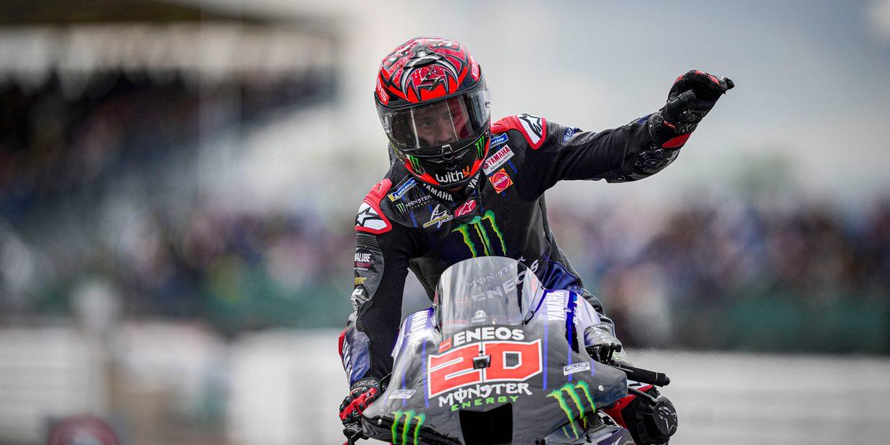 Apasionante carrera en Silverstone de MotoGP con victoria de Quartararo