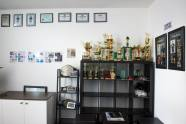 BJJ/MMA room complete. The trophy cabinet in reception.