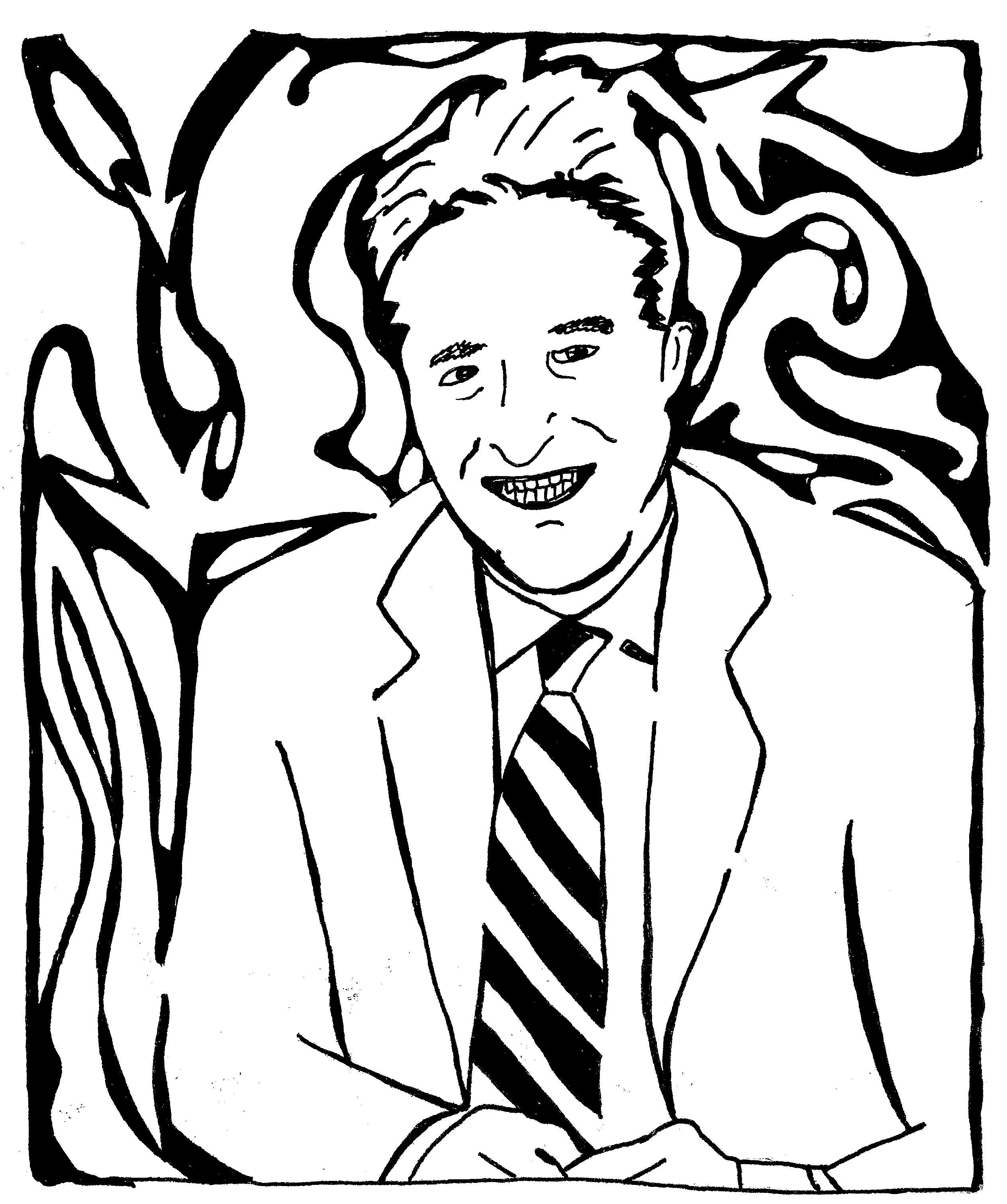 Mazes Jon Stewart of The Daily Show - Maze Portrait