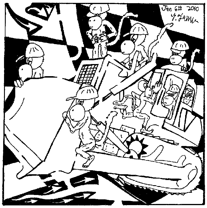 team of monkeys maze bull dozer