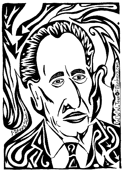 shimon peres, president of israel, portrait by yonatan frimer