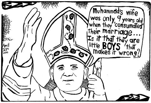 cartoon maze pope vatican