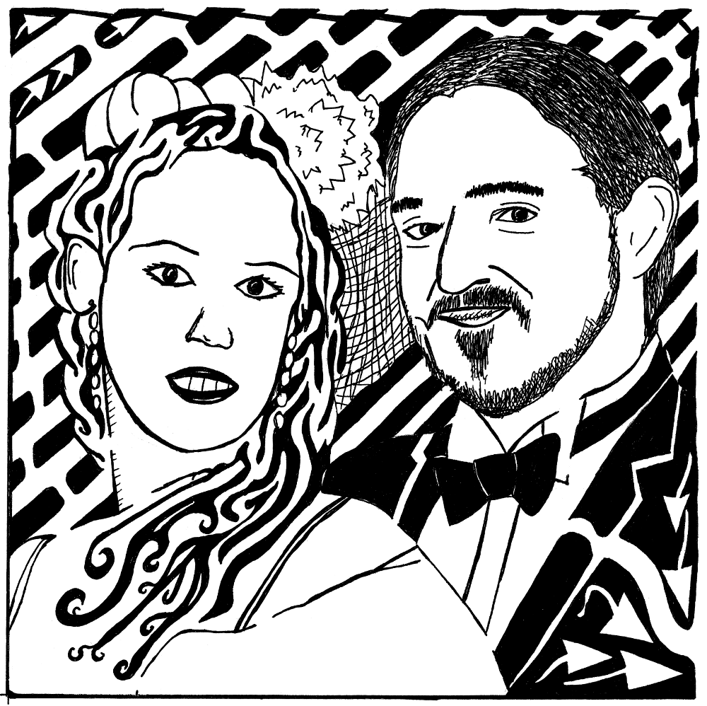 bride and groom maze by Yonatan Frimer