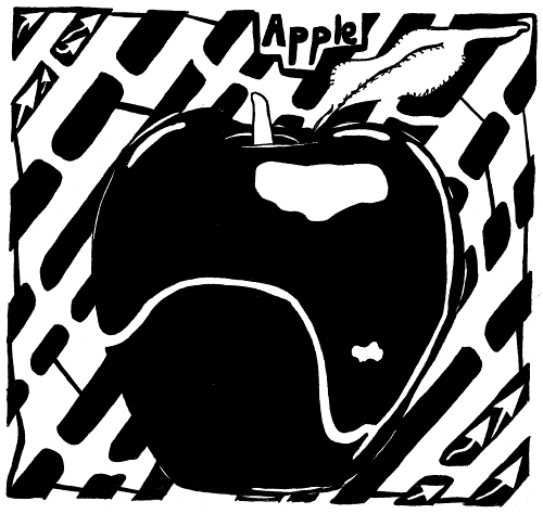 maze of an apple for the letter a
