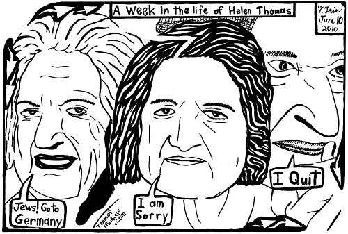 Week in the life of Helen Thomas