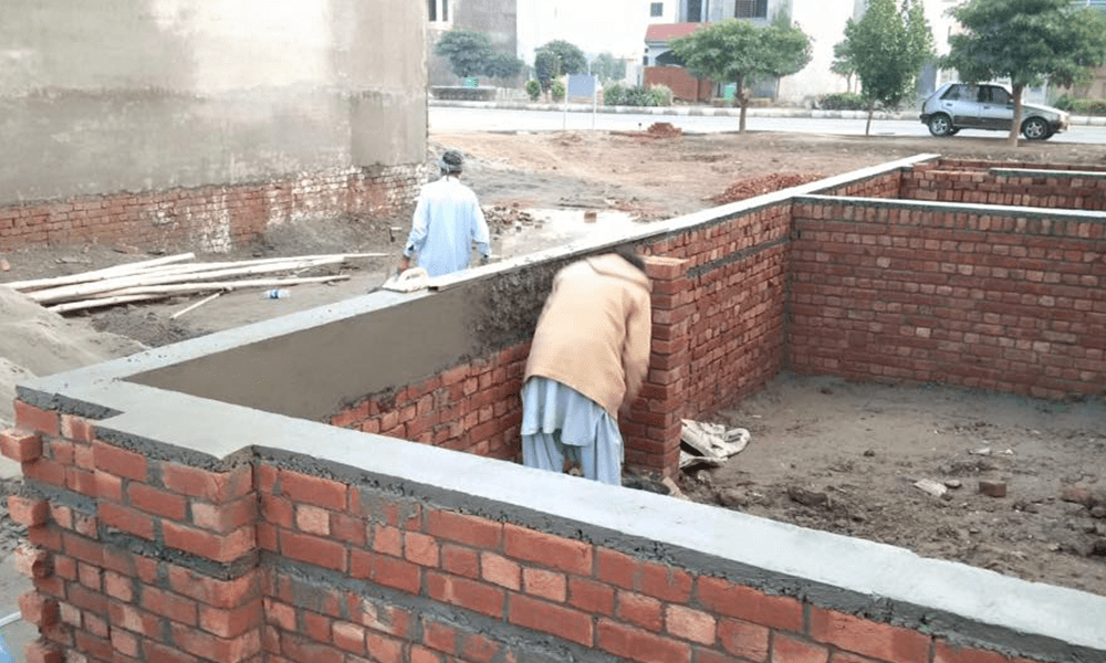 House foundations brick structure construction of house