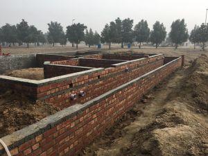 house foundations brickwork 8 marla house bahria orchard