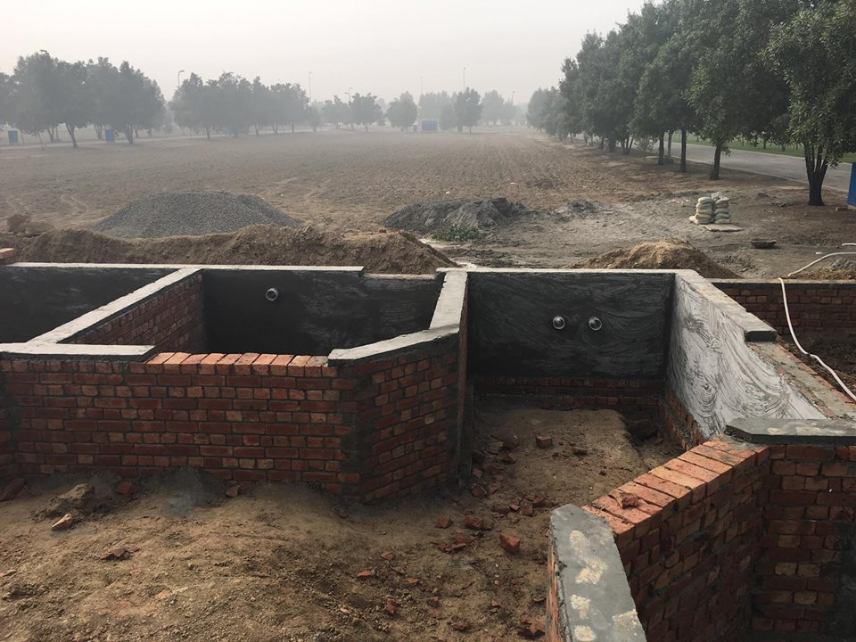 house foundations brickwork 8 marla house bahria orchard