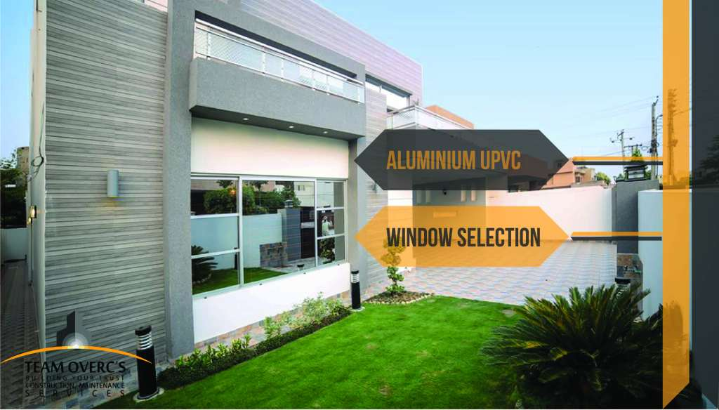 Aluminium windows for house construction finishing works