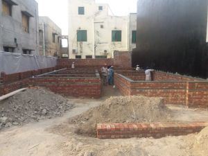Making of brick structure foundations
