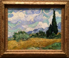 Vincent van Gogh, 1853-1890. Wheat Field with Cypresses, 1889.