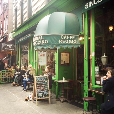 Greenwich Village. First Cappicino in NYC.