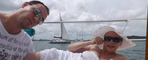 Aaron Hillyer With Anna Majek On Private Yacht In Thailand