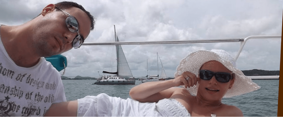 Aaron Hillyer and Anna Majek On Yacht In Thailand