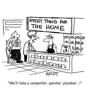 Plumbing cartoon by Chris Wildt