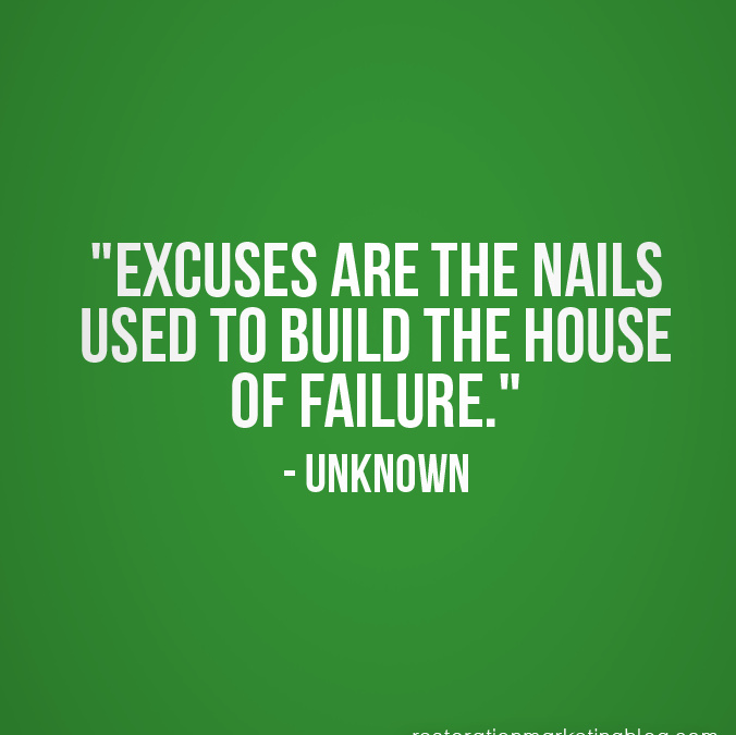 Top 3 Excuses Weightloss Excuses