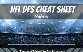 NFL Yahoo DFS Cheat Sheet