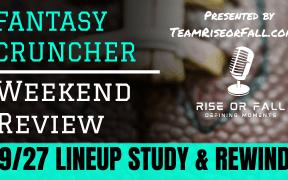 NFL DFS Lineups Week 4