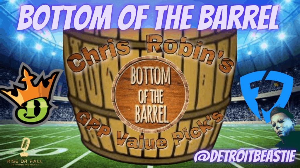 Bottom of the Barrel Week 6 NFL DFS Breakdown
