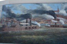 Mural - Ironclad auf dem Mississippi