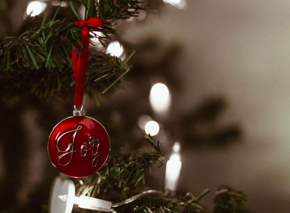 macro photography of joy ornament