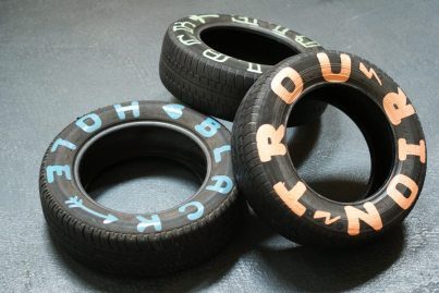 Lucky Left Hand Vespa Legshields Tyres
