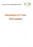 Declaration Of Trust Update 2018