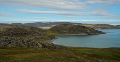 Playa de Salluit! Tropical blue waters of the Salluit fjord.