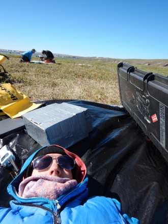 Isla resting during drone trouble shooting. Ah drone trouble shooting it can be a wee bit frustrating at times.