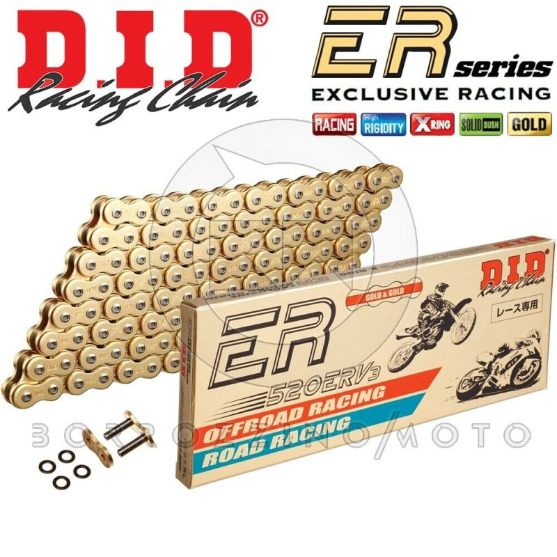 CATENA DID RACING 520ERV3 G&G GOLD M 116 X-RING BMW F 800 F800 GS ANNO 2008