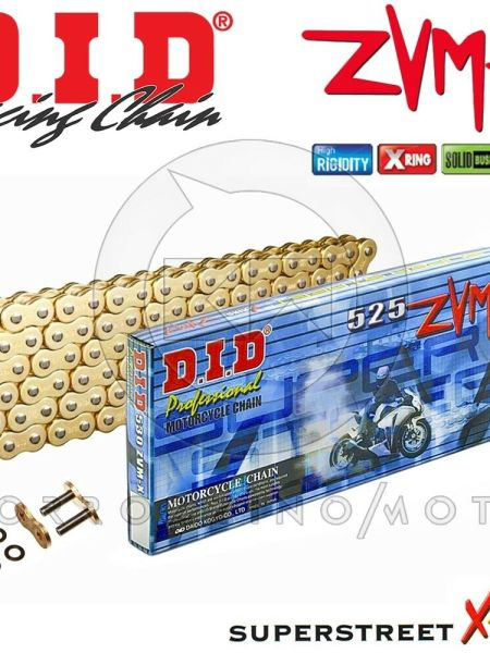 CATENA DID 525ZVMX Gold&Gold ORO X-RING 120 MAGLIE KTM 1190 ADVENTURE R ABS 2014