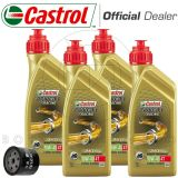 KIT TAGLIANDO OLIO CASTROL POWER 1 RACING 10W40+FILTRO DUCATI 800 MONSTER 2005
