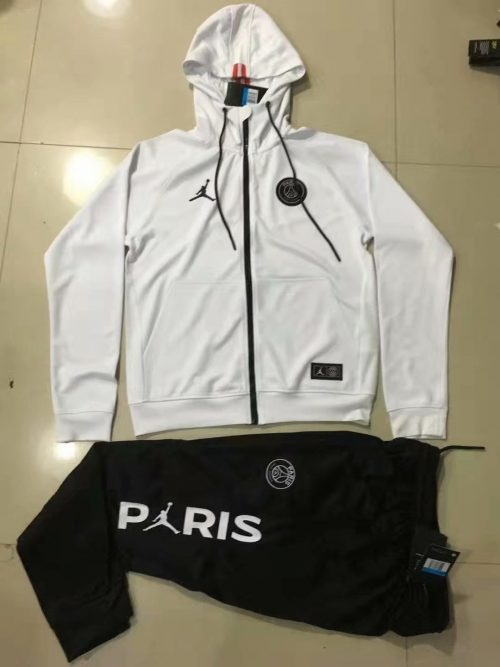 2019 2020 psg x jordan hoodie jacket pants training suit white
