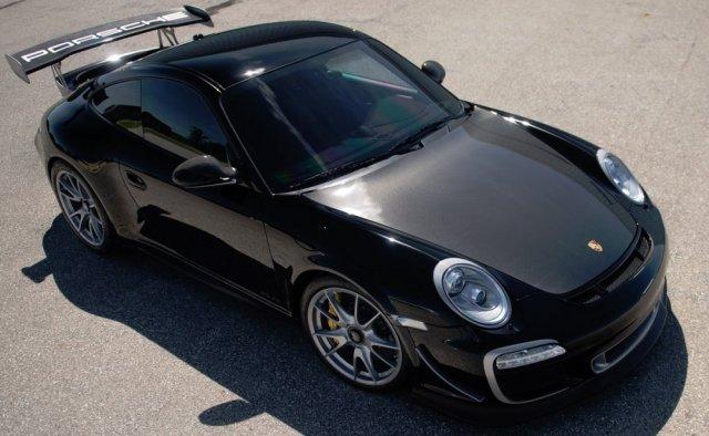 Seinfeld's 2011 Porsche 911 GT3 RS 4.0 High Angle
