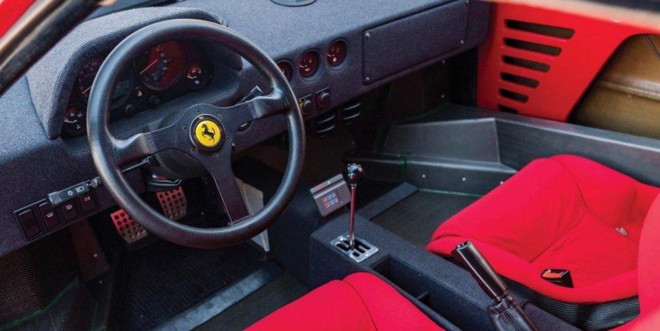 1989 ferrari f40 interior