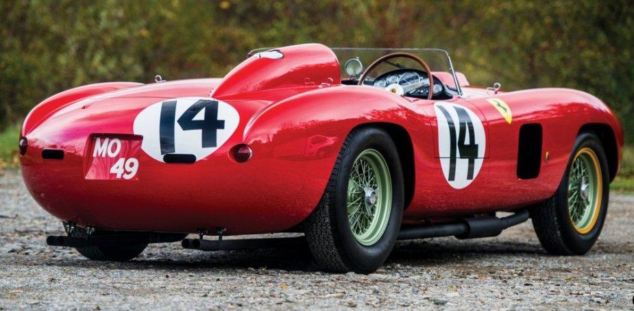 956 Ferrari 290 MM by Scaglietti rear