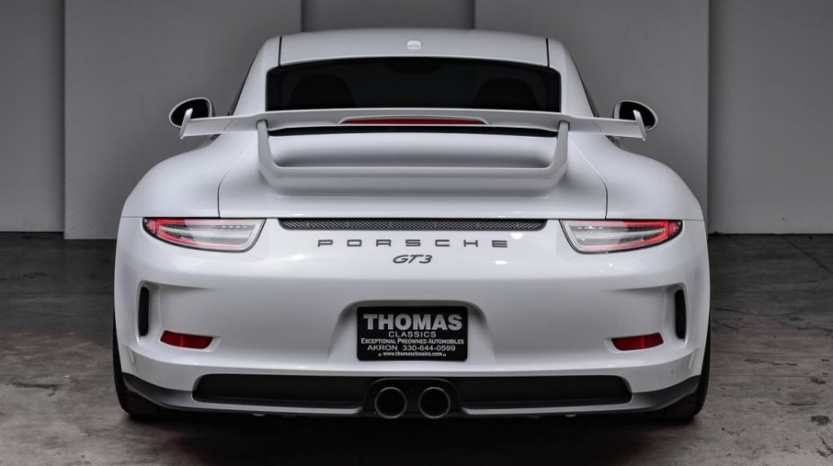 2015 Porsche 911 GT3 Carrera White Rear