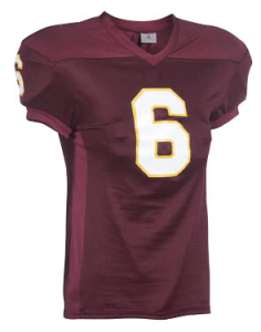 Burgandy team uniforms