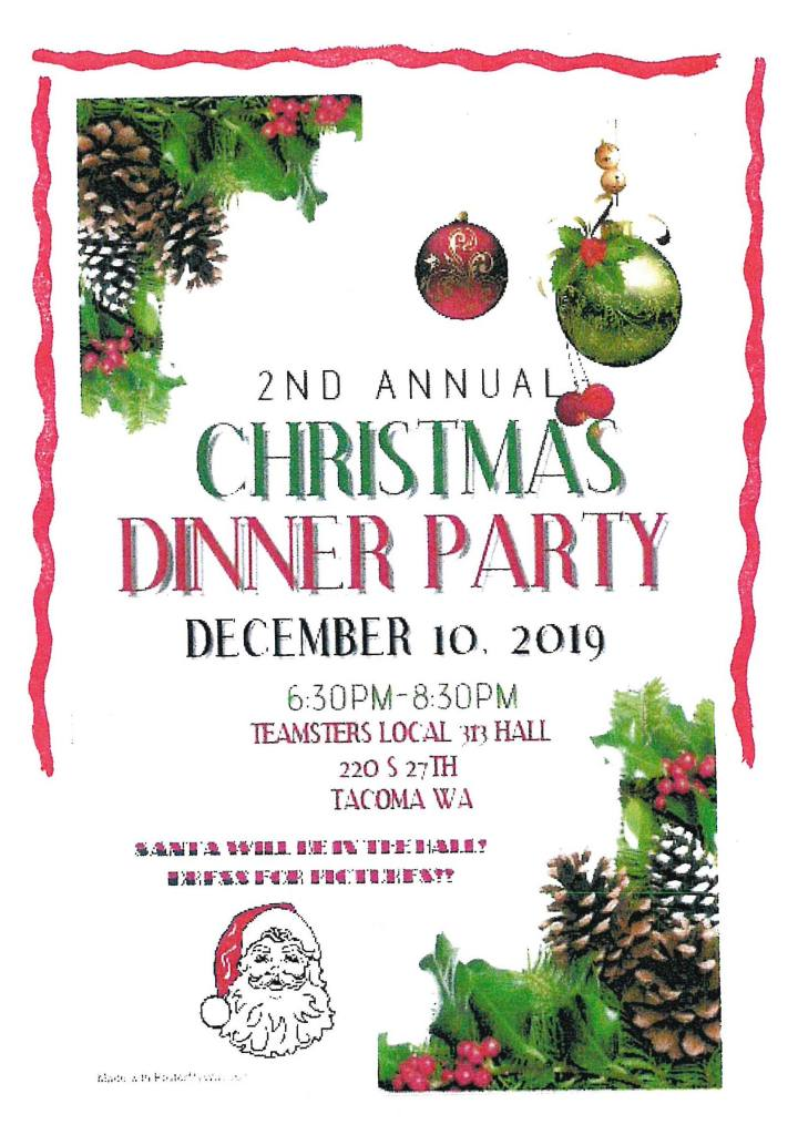 Teamsters Local 313 2nd Annual Christmas Dinner Party – December 10th, 2019
