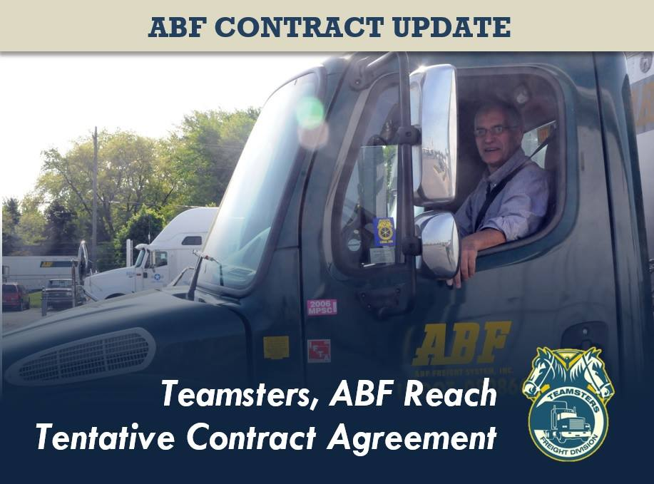 The Teamsters National Freight Industry Negotiating Committee (TNFINC) and ABF Freight System reached a tentative contract agreement, Ernie Soehl, ...