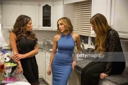 THE REAL HOUSEWIVES OF NEW JERSEY -- Pictured: (l-r) Dolores Catania, Melissa Gorga, Siggy Flicker -- (Photo by: Greg Endries/Bravo/NBCU Photo Bank)