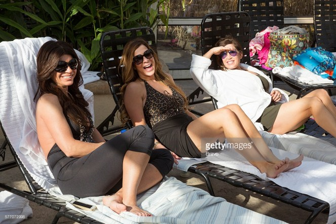 THE REAL HOUSEWIVES OF NEW JERSEY -- Pictured: (l-r) Teresa Giudice, Dolores Catania, Jacqueline Laurita -- (Photo by: Greg Endries/Bravo/NBCU Photo Bank)