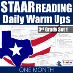 STAAR Reading Warm-Ups in TPT Back to School Sale!