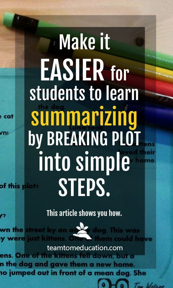 This is an easy way to teach summarizing to elementary students!